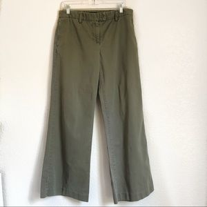 J crew women's pants olive green size 8